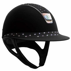 Samshield Miss Shield Shadowmatt - sort m. Fancy Swarovski top + Holographic trim