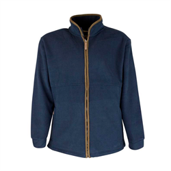Oxford Blue Full zip fleece jakke -navy