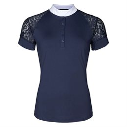 "Equipage showshirt ""Brooke"" med blonder - navy"