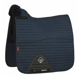 "LeMieux Dressage ""Merino+ Half Lined"" Cotton underlag - navy"