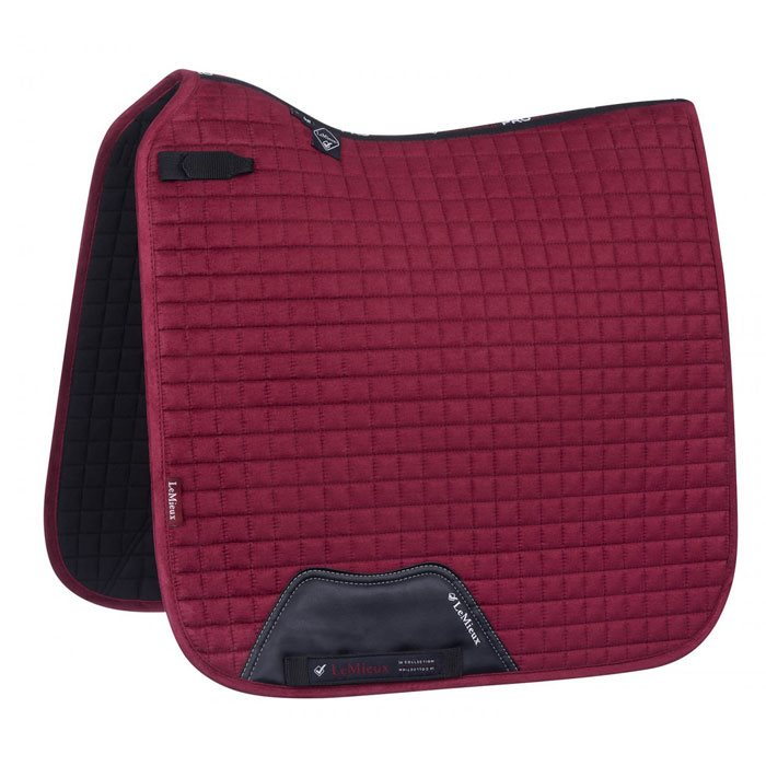 LeMieux Dressage Luxury underlag - mulberry