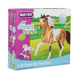 Breyer 3D Pinto Paint-by-numbers malesæt