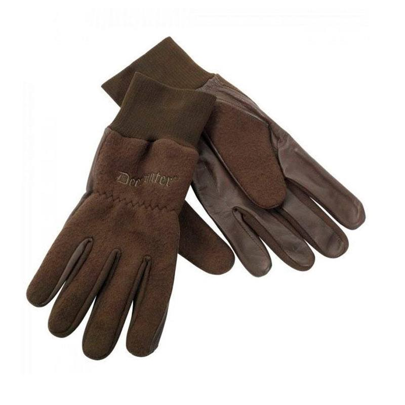 1ba5b444 Deethunter fleece handske med læder.