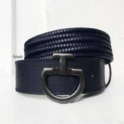 "Cavalleria Toscana bælte ""Elastic Leather"" - navy"