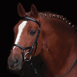 Rambo Micklem Competition Bridle - sort