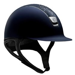 Samshield Shadowmatt i navy med Crystal Fabric Bermuda Blue