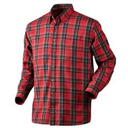 Seeland Edwin skjorte - spicy red check