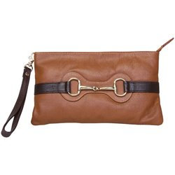 "HV Polo Clutch ""Mouthy"" - cognac"