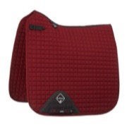 LeMieux Dressage Cotton underlag - burgundy